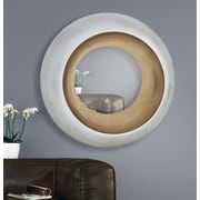 Majestic Mirror Unique Circular Beveled Glass Framed Wall Mirror