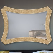 Majestic Mirror Irregular Wood Framed Wall Mirror
