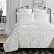 LUX-BED Grand Palace Embroidered 300 Thread Count 100pct Cotton Sheet Set; Queen