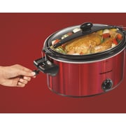 Hamilton Beach Stay or Go 5 Qt. Shimmer Slow Cooker; Red