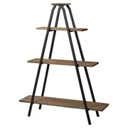 Kennedy Wooden a Line Bookcase w/ Metal Frame 65'' Accent Shelves Bookcase