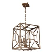 Laurel Foundry Modern Farmhouse Zeeland 4 Light Candle-Style Chandelier; Distressed Goldleaf