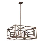 Laurel Foundry Modern Farmhouse Zeeland 6 Light Candle-Style Chandelier; Weathered Iron