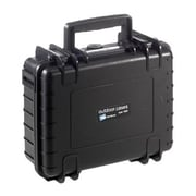 B&W Type 1000 Black Polypropylene Small Outdoor Shipping Case with Egg Crate Foam Lid (1000/B/RPD)