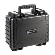 B&W Type 3000 Black Polypropylene Outdoor Shipping Case with Egg Crate Foam Lid (3000/B/RPD)