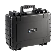 B&W Type 5000 Black Polypropylene Outdoor Shipping Case with Egg Crate Foam Lid (5000/B/RPD)