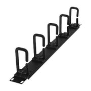 CyberPower® Carbon™ 1U Flexible Ring Rack Cable Management, Black (CRA30004)