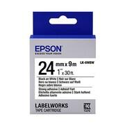 "Epson® LabelWorks LK-6WBW 1"" Tape Cartridge, Black on White"