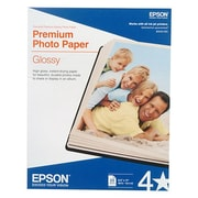 "Epson  Glossy Premium Photo Paper, 8 1/2"" x 11"", White, 25/Pack (S042183)"
