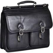 """McKlein USA® 15605 S Series Hazel Crest Double Compartment Briefcase for 15.4"""" Laptop, Black"""