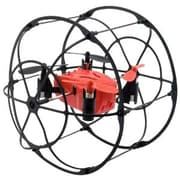 Odyssey Turbo Runner Climbing and Rolling Quadcopter Drone, Red/Black (ODY-1012)