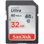 SanDisk® Ultra Class 10/UHS-1 SDHC Flash Memory Card, 32GB (SDSDUNC-032G-AN6IN)