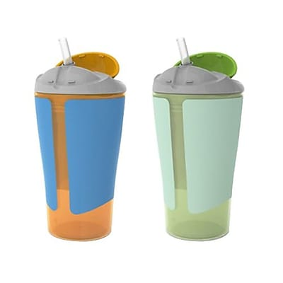 Summer Infant Born Free Grow with Me Boy Straw Cup, 10 oz., Multicolor, 2/Pack (48020) IM16F4430