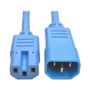 Tripp Lite® 2' IEC 60320 C14 to IEC 60320 C15 Male/Female Power Extension Cord, Blue (P018-002-ABL)