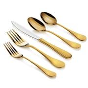 Artaste Rain  20 Piece Stainless Steel Flatware Set; Gold