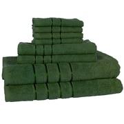 Lavish Home 8 Piece 100% Cotton Plush Bath Towel Set - Green