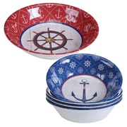 Certified International Nautique 5 Piece Heavy Weight Melamine Salad Serving Bowl Set