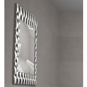 Majestic Mirror Unique Rectangular Convex Panel Framed Wall Mirror