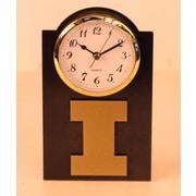HensonMetalWorks NCAA Desktop Clock; University of Illinois