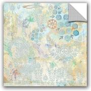 ArtWall Evelia Sowash Watery Blues Paisley Paper Wall Decal; 36'' H x 36'' W x 0.1'' D