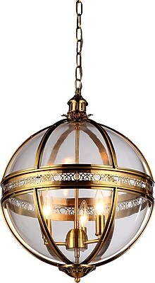 Warehouse of Tiffany 3-Light Candle-Style Chandelier WYF078278353303