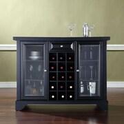 Crosley LaFayette Sliding Top Bar Cabinet; Black