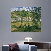 Wallhogs ''Pissarro Landscape at Chaponval'' (1880) Glossy Poster; 49'' H x 60'' W
