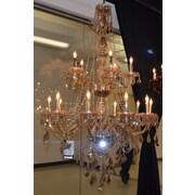Worldwide Lighting Provence 15 Light Crystal Chandelier; Golden Teak