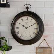 Creative Co-Op Metal Pocket Wall Clock