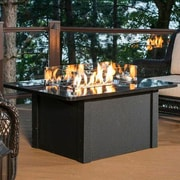 The Outdoor GreatRoom Company Grandstone Crystal Fire Pit Table; Black