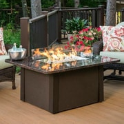 The Outdoor GreatRoom Company Grandstone Crystal Fire Pit Table; Brown