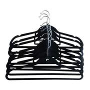 Closet Spice Velvet Hanger (Set of 8); Black