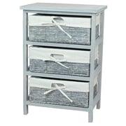 Vintiquewise Wooden Storage Cabinet 3 Drawer Accent Chest