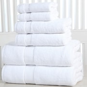 Affinity Linens Elegance Spa Luxurious Cotton 600 GSM 6 Piece Towel Set; White