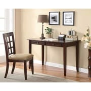 Wildon Home   Hartland Writing Desk and Chair Set; Cherry