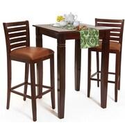 Benkel Seating Sisley 3 Piece Bar Set; Medium Oak