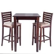 Benkel Seating Sisley 3 Piece Bar Set; Walnut