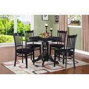 TTPFurnish Morley Dining Table; Black