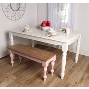 Kate and Laurel Turin Dining Table; True White