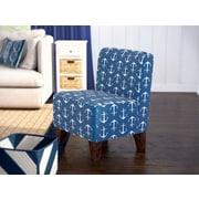 Fox Hill Trading Penelope Sailor Anchor Armless Slipper Chair