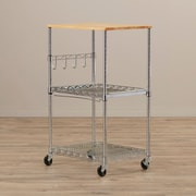 Whitmor, Inc Microwave Cart w/ Wood Top