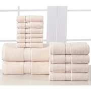 Affinity Linens Elegance Spa 600 GSM Egyptian Quality Cotton 12 Piece Towel Set; Linen