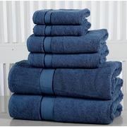 Affinity Linens Elegance Spa Luxurious Cotton 600 GSM 6 Piece Towel Set; Blue Stone