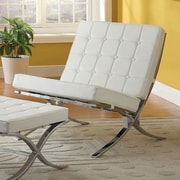 ACME Furniture Elian Lounge Chair; Ivory