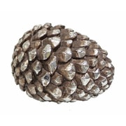 Gold Eagle USA Pinecone Table Top D cor; Sliver