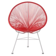 Joseph Allen Acapulco Woven Basket Lounge Chair; Red