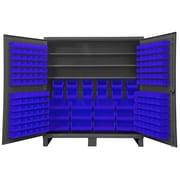 Durham Manufacturing 78'' H x 60'' W x 24'' D Lockable Cabinet; Blue