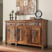 Coaster NJ-08810-2516 Reclaimed Wood 3 Drawer 3 Door Accent Cabinet