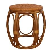 RattanWickerHomeFurniture Larry Rattan Wicker Garden Stool; Light Brown