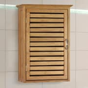 Gallerie Decor Natural Spa 14.5'' W x 21'' H Wall Mounted Cabinet; Natural Bamboo